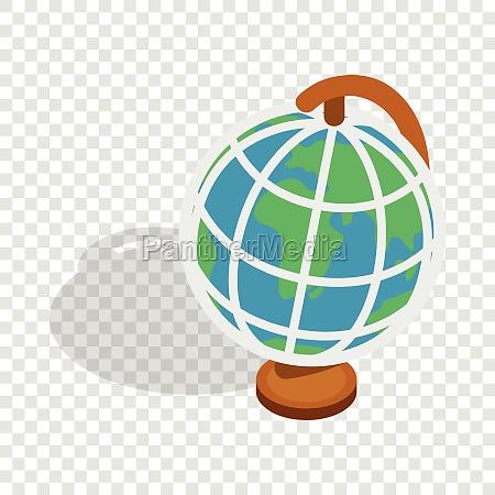 terrestrial globe isometric icon