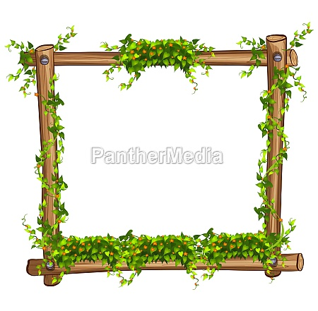 frame with vine and flowers