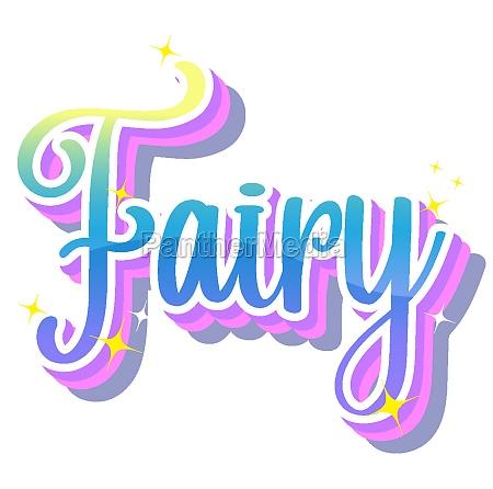fairy logo on white background
