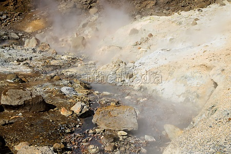 seltun mud pools day view iceland