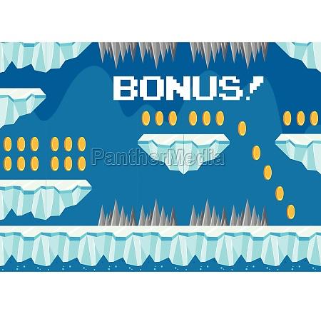 cold iceberg bonus game template