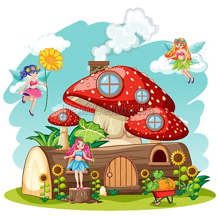fairy tales with mushroom and timber
