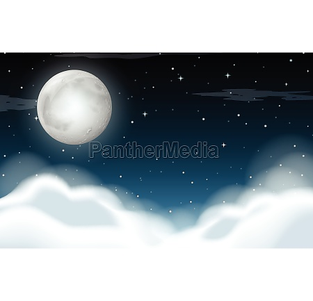 a cloudy sky at night