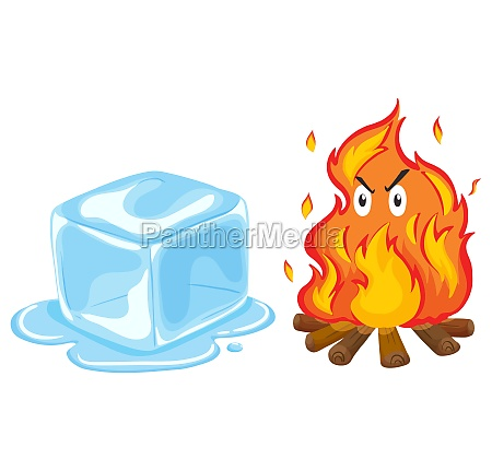 ice cube and fire