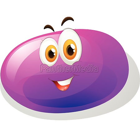 purple slime with smiling face