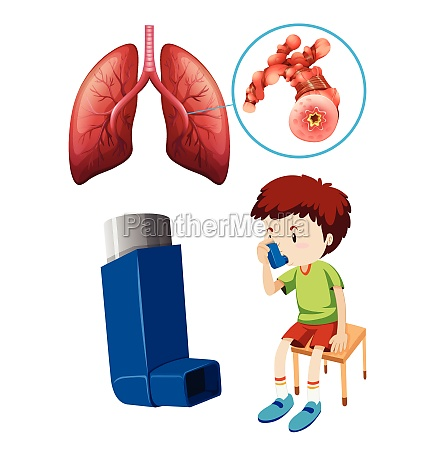 boy with unhealthy lungs