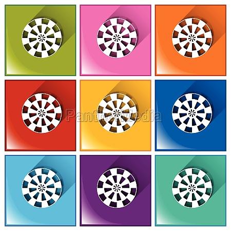 target buttons