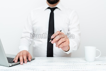 remote office work online presenting business