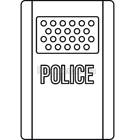 police icon outline style