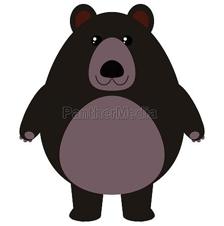 black bear on white background