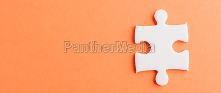 one paper plain white jigsaw puzzle