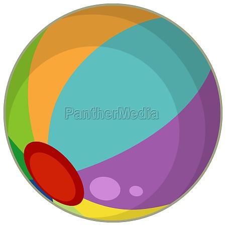 a colourful beach ball cartoon style