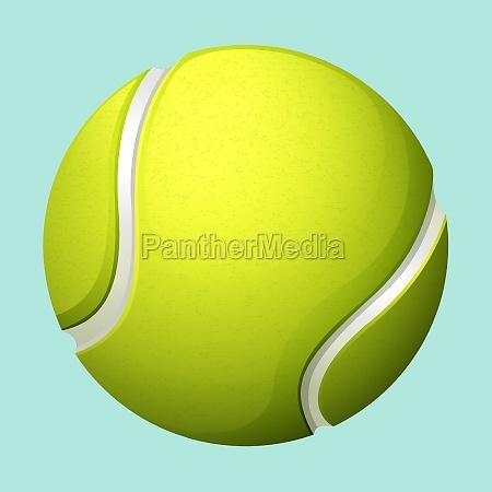tennis ball on green