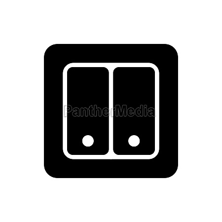 electrical switch two buttons vector glyph