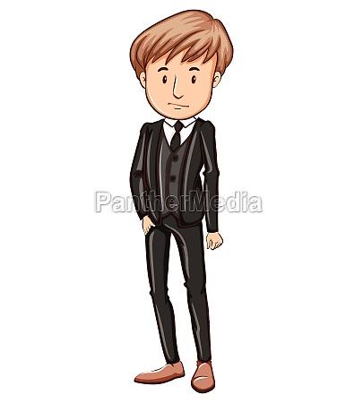 a man wearing a formal attire