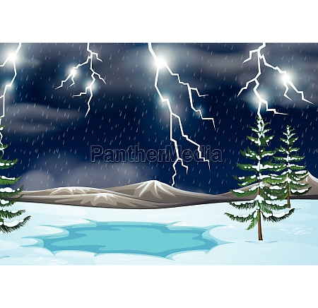 a thunderstorm nature background