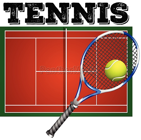 tennis court and equipment