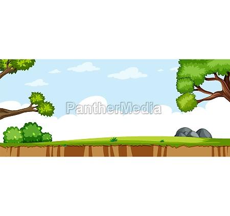 blank landscape in nature park scene