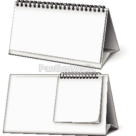 blank calendar planning work accessory vector