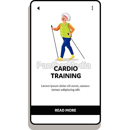 cardio training exercising old lady athlete