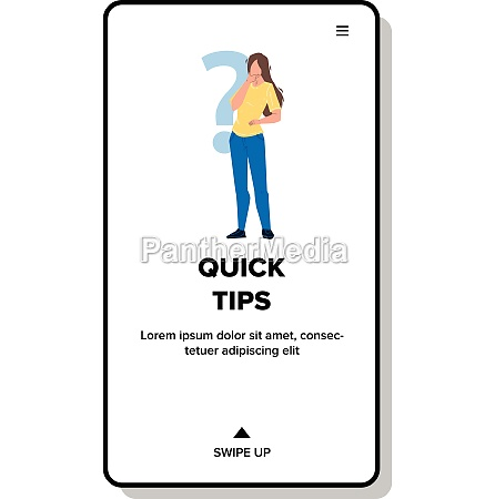 quick tips searching confused young woman