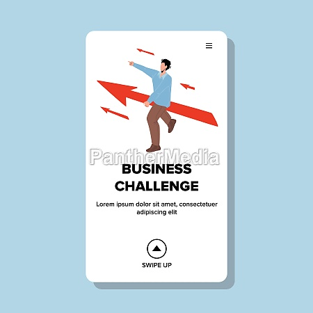 business challenge strategy and process vector