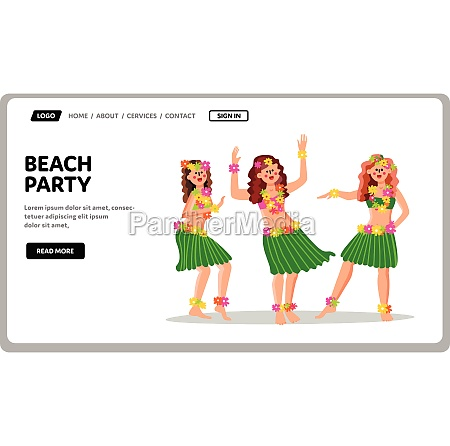 beach party in hawaiian traditional style