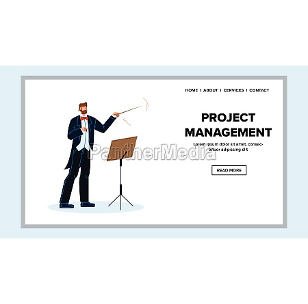 project management and leadership manager vector