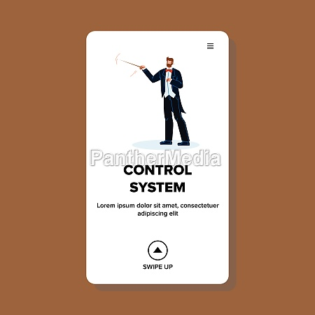 control system and support businessman vector