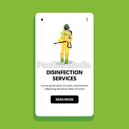 disinfection services worker disinfecting vector flat
