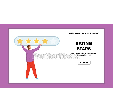 rating stars putting customer or service