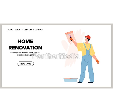 home renovation occupation of painter man