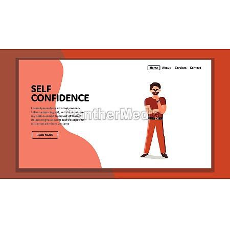 self confidence bearded stylish businessman vector