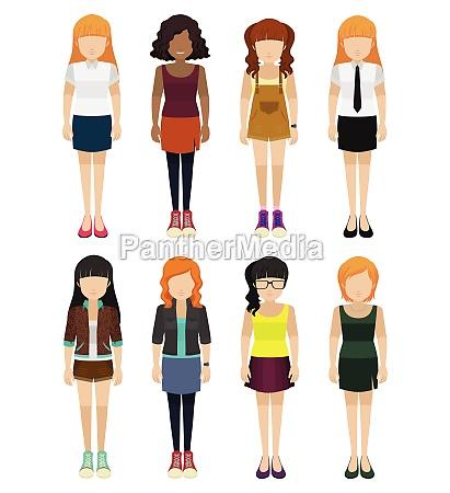 eight faceless ladies