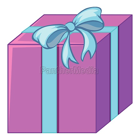 purple and blue gift isolated