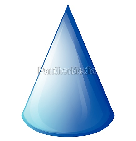 blue cone on white