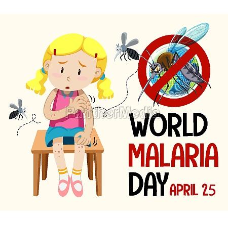 world malaria day logo or banner
