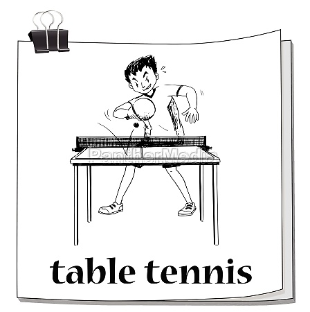 man playing table tennis on table