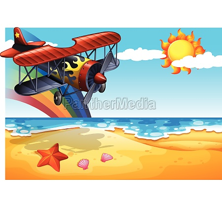 plane and beach