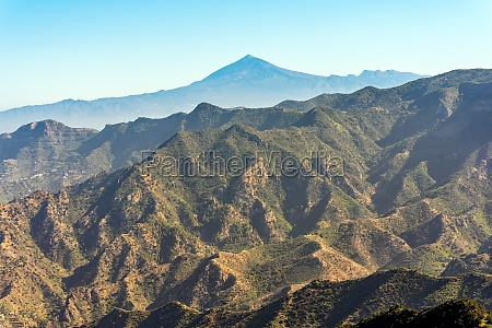 view from the mountains of gomera