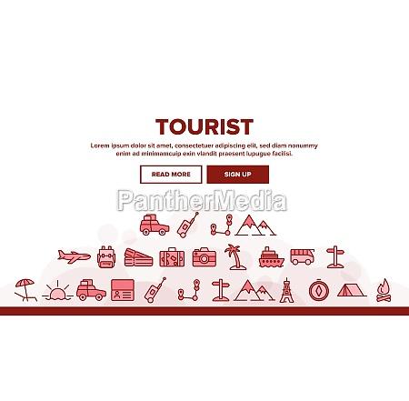 tourism and travel around world vector