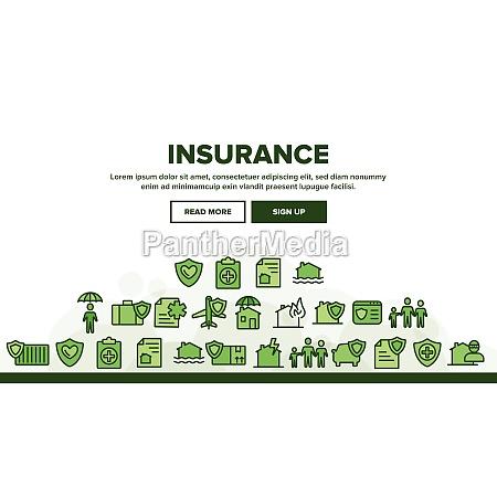 insurance landing header vector