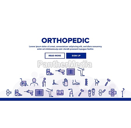 orthopedic landing header vector