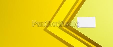 blank white rectangular business card on