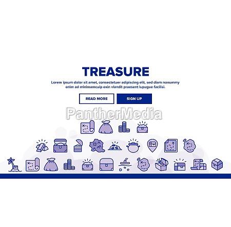 treasure pirate gold landing header vector