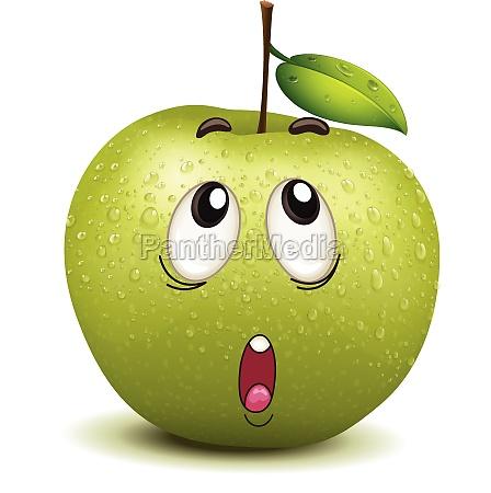 wondering apple smiley