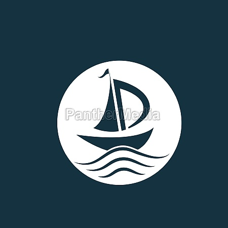 silhouette of dhow logo design
