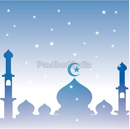 mosque logo and symbol vector image