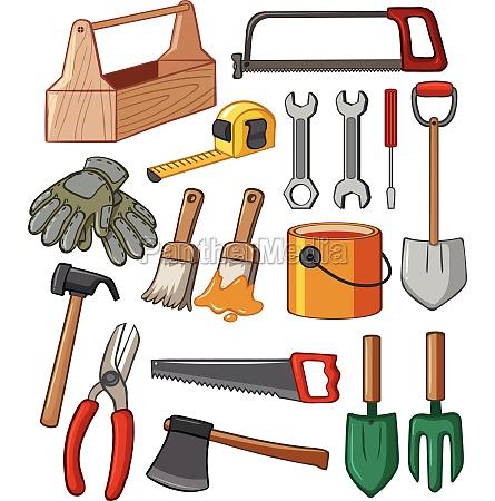 toolbox and many tools