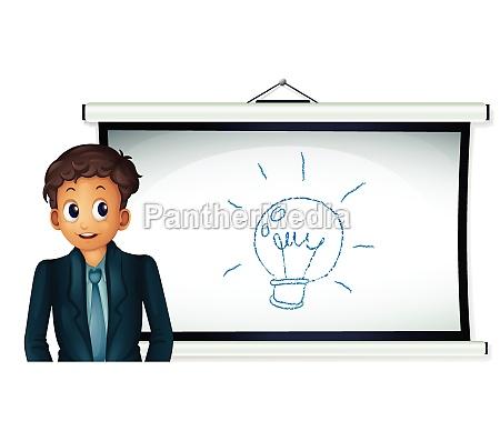 whiteboard man